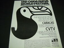 Onda Nueva 3rd World Festival in Caracas 1973 Promo  00004000 Poster Ad mint condition
