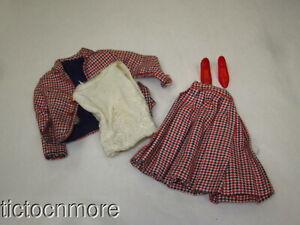 VINTAGE BARBIE francie DOLL MOD FASHION CLOTHES #1259 CHECKMATES SET w/ HEELS