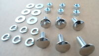 6 OLD SCHOOL STAINLESS STEEL BUMPER BOLTS/NUTS!ALL 1960-70'S FORD/MERCURY 8408DX