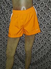Nike Orange White Elastic Waist Shorts Unisex Boys Girls Child 16 XLARGE USED