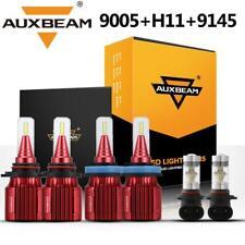 AUXBEAM 9005+H11+9145 H10 LED Headlight Fog Kit for Ram 3500 2500 1500 2011-2018