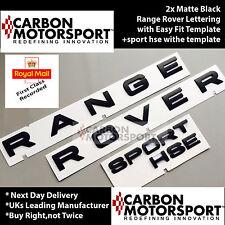 2X Matte Black Range Rover lettering e 1 X SPORT HSE Distintivo Cofano Stivale Lettere
