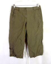 euc J.Jill Olive Green Genuine Fit Below Waist Capri Pants ladies SZ 12