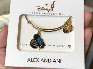 Disney Mickey Alex and Ani Class of 2020 Graduation Cap Bracelet -In Stock