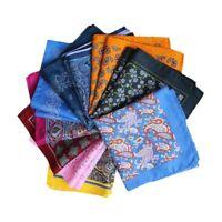 Fashion Men Polyester Silk Pocket Square Handkerchief Wedding Party Hanky 34CM
