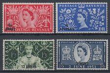 Oman 1953 ** Mi.44/47 Krönung Coronation Königin Elisabeth Queen Elizabeth II.