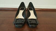 Christian Dior Black Leather Buckled Low-heeled Pumps Size 36