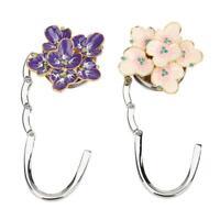 Flower Shape Foldable Bag Hook Metal Purse Hanger Desk Hooks Handbag Holder