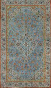 Antique Floral Ardakan Oriental Area Rug Overdyed Evenly Low Pile Handmade 6'x9'