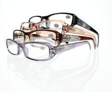 Ladies Luxury Rhinestone Flower Full Frame Reader Reading Glasses +1.0 ~ +4.0