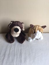Mixed Lot Of 2 Ganz Webkinz Mocha Pup Bull Dog Plush With No Tag No Code
