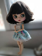 """12"""" Neo Blythe Doll Matte Face from Factory Joint Body Nude Doll Dark Brown Hair"""
