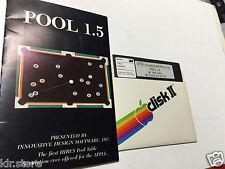 POOL 1.5 IDSI 1981 heuert Table Game Apple ii II Plus iie old Vintage