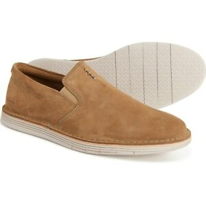 Men's Clarks Forge Free Suede Slip-Ons Shoes Size 10.5M NEW