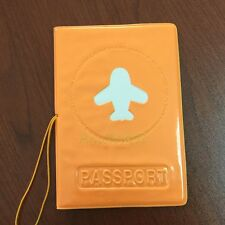 PVC Identity Card Holder CASE Passport Protect Cover For Journey Travel Orange