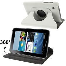 Slim Tasche Glatt Etui 360° Weiss für Samsung Galaxy Tab 2 / 7.0