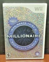 Who wants to be Millionaire  Nintendo Wii and Wii U Rare Game - Brand New Sealed