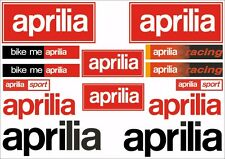 Aprilia Motorcycle Decals Stickers Bike Graphic Set Vinyl Logo 14 Pcs Red