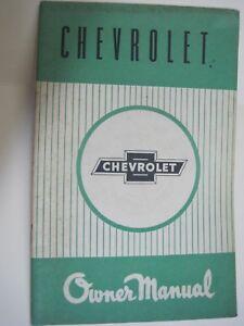 1955 Chevrolet Aussie GMH  Handbook  - Original