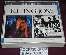 KILLING JOKE - NIGHT TIME & KILLING JOKE (2 CD'S 2 ALBUMS) RARE LIKE NEW