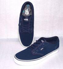 Vans Atwood Rau Up Leder Herren Schuhe Freizeit Sneaker Gr 42 US 9 Dk.Blau Weiß