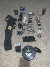 Large Fishing Tackle lot-Reels, Visibility Meter, Fuel Gages, lights, Rod Cover