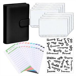 A6 PU Leder Notebook Binder Budget Planer Organizer Cover Taschen Geldbörse
