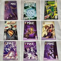 (Lot Of 9) Gene Ha! autographed comics Mae #1 Green Lantern #36 Action #9 Roar