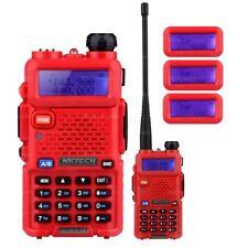 NKTECH UV-5R PLUS Tri-Power 8W 4W 1W Two Way Radio Dual Band Walkie Talkie Red