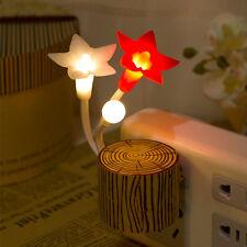Fancy Flower LED Avatar Night light Bed Sensor Lamp Romantic Ambient USPlug