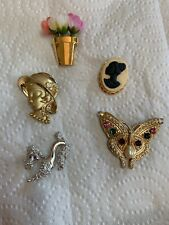 Lot of 5 - 7597 Vintage Misc Brooch Pin -