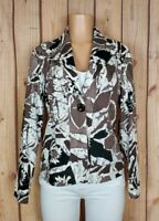 COLDWATER CREEK Womens Size 12 Long Sleeve Button Down Floral Print Blazer