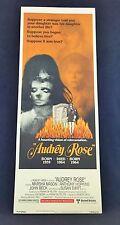 Original 1977 AUDREY ROSE Movie Poster 14 x 36  ANTHONY HOPKINS / HORROR