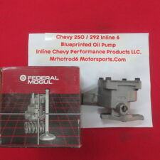250 / 292 Chevy Inline 6 New High Performance Blue printed oil pump.
