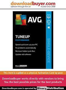 AVG PC TuneUp 2021 - 3 PC - 1 Year [Activation Card]