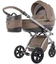 Knorr Baby 2in1 Kombi-Kinderwagen Alive Pure Cappucinno Leder-Optik 2580-5