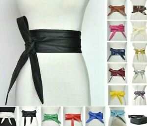 Women Wide Corset Belt Ladies Leather Waistbands Fashion Dress High Waist Wrap