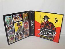 Custom Made Zorro Disney 1958 Trading Card Album Binder Graphics Only