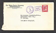 Dominican Republic #234 On Cover San P. De Macoris To New York City 1926