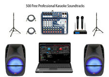 Laptop Karaoke System Home Karaoke Machine YouTube Ready Mixer w/Vocal Effects!!