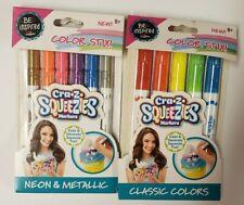 Cra-Z Squeezies Color Stix Classic & Neon & Metallic Markers 11 pc *Nip* Ages 8+