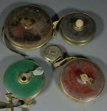 Lot of 5 Antique Tape Measures - Continental Lufkin AJAX and other