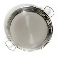 VAELLO AUTHENTIC STAINLESS STEEL QUALITY PAELLA OR CURRY PAN 26CM TWO HANDLES