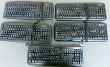 Job Lot 5 x Genuine Microsoft Black USB Wired Keyboards