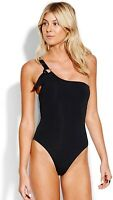 Seafolly Women's 189463 Active One Shoulder Maillot One-Piece Swimsuit Size 6
