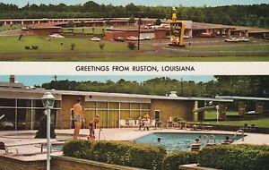 "*Louisiana Postcard-""Greetings...From Ruston, LA."" (Holiday Inn)"