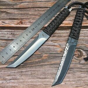 Fixed Blade Knife Knives Blade Tool Outdoor Camping Hunting Survival Tactical