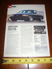 1994 1995 1996 CHEVROLET IMPALA SS - ORIGINAL 2003 ARTICLE