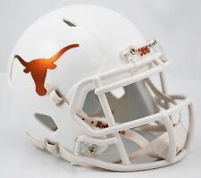TEXAS LONGHORNS NCAA Riddell SPEED Full Size Replica Football Helmet CHROME LOGO