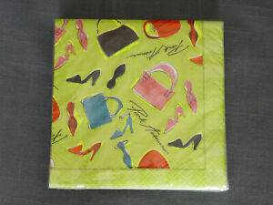 New York Paper Beverage Napkins Set of 16 - Park Avenue - Handbags and Heels
